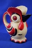Large Czech Ceramic Rooster Pitcher