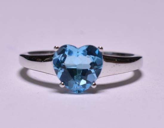 Blue Topaz Sweetheart Ring
