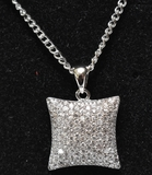White Sapphire Pave Necklace