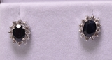 Onyx & White Sapphire Earrings