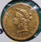 1907-D U.S. Gold Liberty Ten Dollar Coin