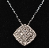 Large Diamond Estate Necklace