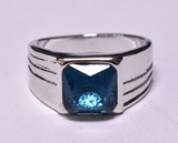2.15 ct. Royal Blue Sapphire Mens Ring