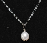Single Pearl Estate Necklace