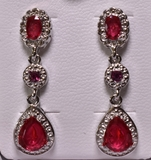 London Red Ruby Estate Earrings