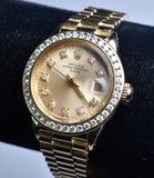 Ladies 18 kt. Presidential Diamond Rolex Watch