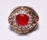 Round Cut Ruby Dinner Ring