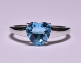 Blue Topaz Sweetheart Ring