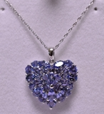 6ct. Genuine Tanzanite Estate Necklace
