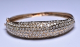 8.14 ct Rolex Style Diamond Estate Bangle Bracelet