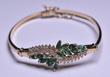 2.13 ct. Genuine Emerald & Diamond Bracelet