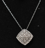 Large Diamond Dinner Pendant