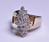 Large Near Flawless Diamond Estate Ring, 14 kt.