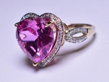 5.12 ct. Pink Sapphire & Diamond Estate Ring