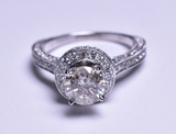 1.78 ct. Diamond Wedding Ring, 14 kt., 4.0 Grams