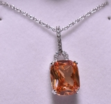3 ct. Butterscotch Morganite Necklace