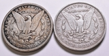 Two 1889 Morgan Silver Dollars