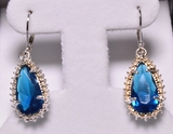 3.88 ct. Teardrop Sapphire Earrings