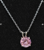 Pink Topaz Sweetheart Necklace