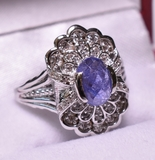 1.6 ct. Genuine Tanzanite Estate Ring