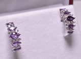 Elegant Amethyst Dinner Earrings