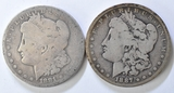 1881 & 1887 Morgan Silver Dollars