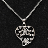 White Sapphire Heart Necklace
