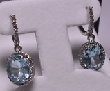5.78 ct. Blue Topaz Estate Earrings