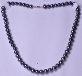 Single Strand Tahitian Pearl Estate Necklace