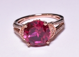 Round Cut 2.35 ct. Ruby Estate Ring