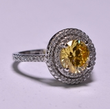 Canary Yellow Topaz Dinner Ring