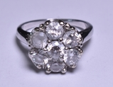 3.12 ct. White Sapphire Estate Ring, 14 kt.