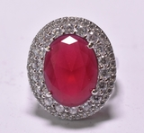 6.55 ct. Ruby Estate Ring