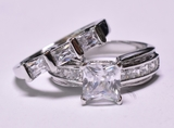 Flawless 6.35 ct. White Sapphire Estate Ring