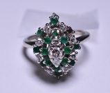2.85 ct. Genuine Emerald & Diamond Estate Ring