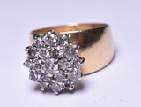 2 ct. Diamond Estate Ring, 14 kt., 11.1 Grams