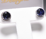 Round Cut Sapphire Earrings