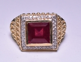 3.25 ct. Genuine Ruby Mens Ring