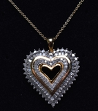 2 ct. Diamond Heart Necklace
