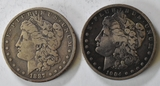 1904 & 1887 Morgan Silver Dollars