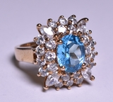 3.25 ct. Blue Topaz Dinner Ring