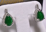 Pear Cut 3 ct. Emerald Earrings