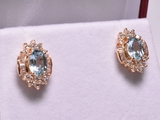 Custom Blue Topaz Estate Earrings