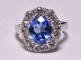 Oval Cut 3.78 ct. Tanzanite Estate Ring
