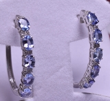 2 ct. Genuine Tanzanite Estate Earrings