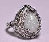 Pear Cut Opal Estate Ring