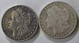 1887 & 1921 Morgan Silver Dollars