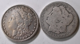 1884 & 1887 Morgan Silver Dollars