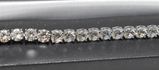 12.11 ct. White Topaz Tennis Bracelet
