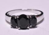 3 Stone Sapphire Estate Ring